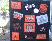 SOLD..GiantsQuilts Handmade San Francisco Giants Quilt  Custom Orders Welcome