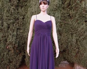 Dark Purple Evening Dress. Purple Bridesmaid Dress. Party Dress.