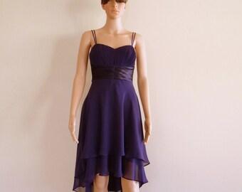 Dark Purple Bridesmaid Dress.Evening Dress.Party Dress