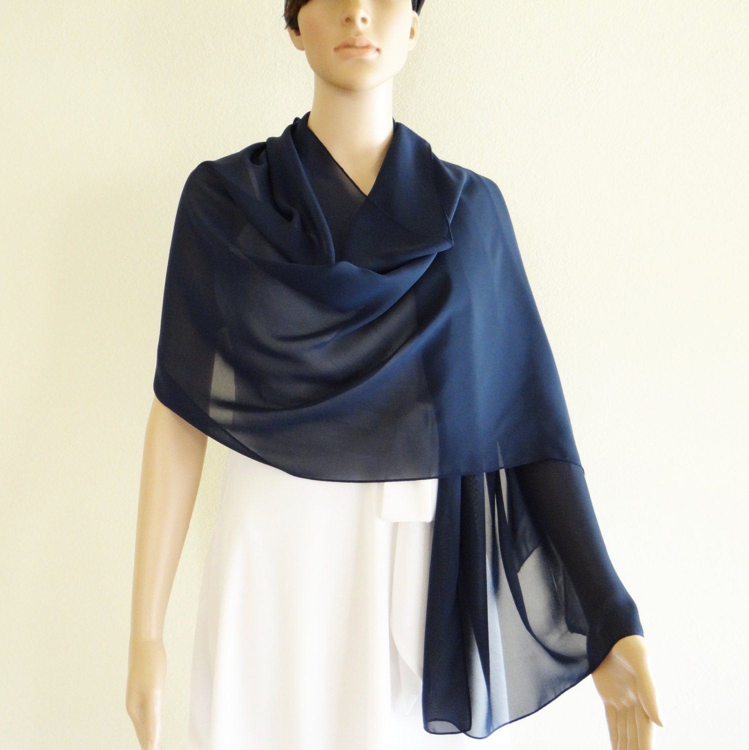 navy blue shawl navy blue wrap scarf chiffon scarf