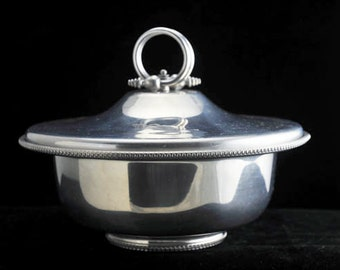 2 Piece B. W. Buenilum Aluminum Covered Serving Casserole Dish Vintage 1950s
