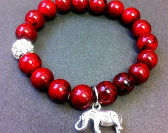 Women's Delta Sigma Theta Stretch Beaded Bracelet