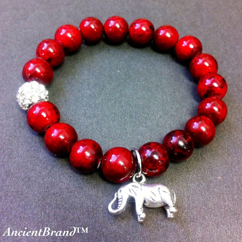 s delta sigma theta stretch beaded bracelet