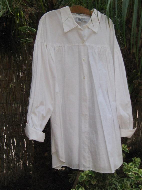 Artist Smock Ladies White Big Shirt Loose Top By Prettyonyou