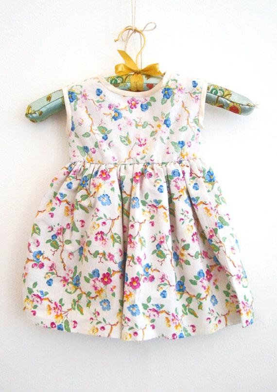 12 - 18months Baby Dress in Vintage Floral Print