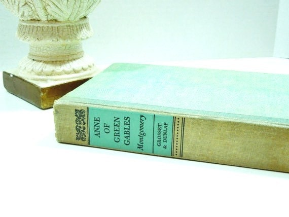 "Vintage Green Library- ""Anne of Green Gables"" by L.M. Montgomery-Circa 1940's-French Country-English Country Home"