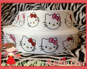 White kitty ribbon 7/8 inch - 5 yards