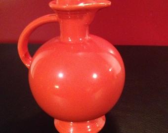 Vintage Fiestaware carafe radioactive red