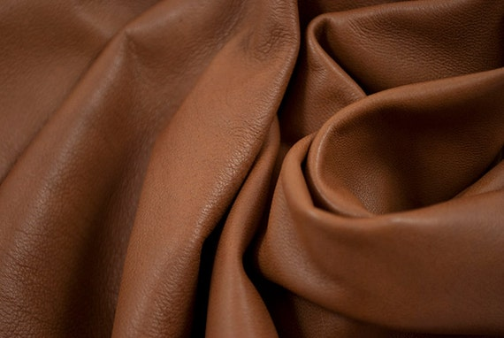 RESERVED to Ling - leather hide brown  lambskin butter soft garnment 7.1 ft square feet -  cod259