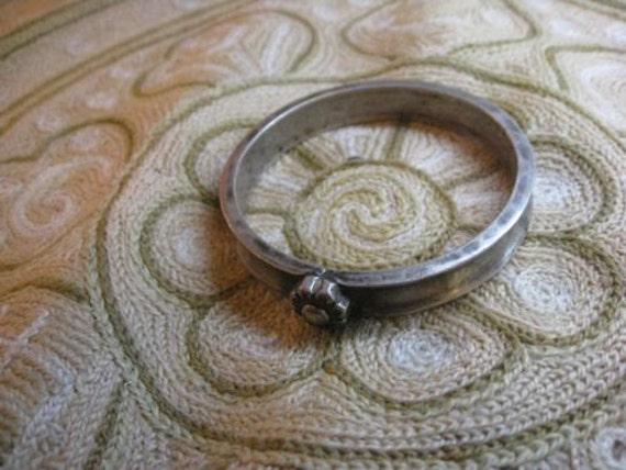 RESERVED FOR KATE Heavy, Solid Silver Indian Bracelet/Arm Band