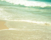 Beach wall art Ocean Waves photograph Instant Download Beach decor Seashore print Seascape photo beige green Coastal art
