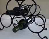 Welded Black Wine Rack - Holds up to 5 bottles