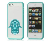 iPhone 5 Chamsa Frost Case with Mint Cyan Bumper