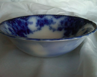 "Meakin Flow Blue Bowl ""Devon"""