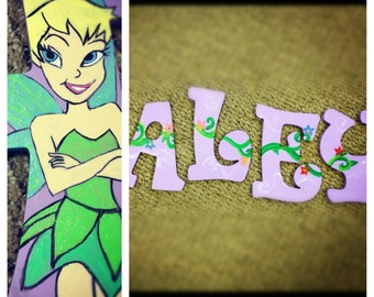 Tinker bell hand painted letters