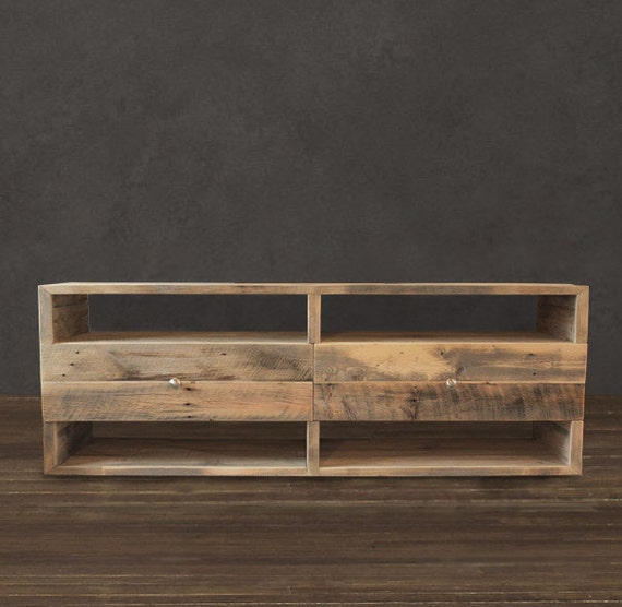 Console Wooden : Reclaimed Wood Media Console / Entertainment Center by AtlasWoodCo ...
