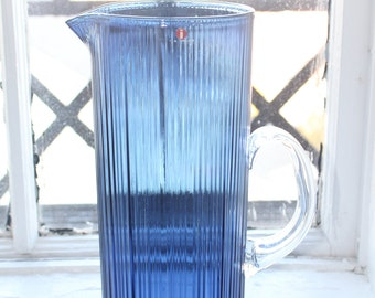 "Beautiful large, blue Iittala ""Tapio"" pitcher"