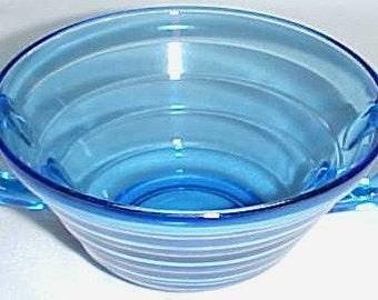 Hazel Atlas Depression Glass Cobalt Blue MODERNTONE 4 5/8 Inch Cream Soup Bowl