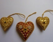 Vintage Christmas Decorations - Indian Beaded Xmas Ornaments - Tree Decorations