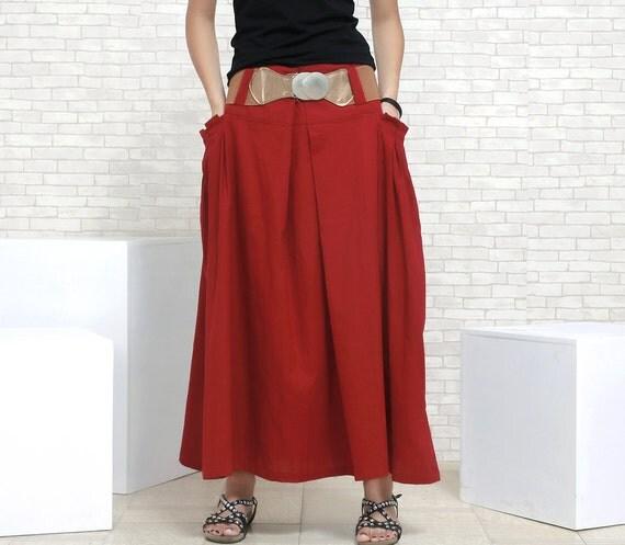 items similar to maxi skirt linen skirt in on etsy