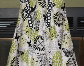 Boutique Pillowcase dress Featuring Butterfleis Dots and floral :PC027