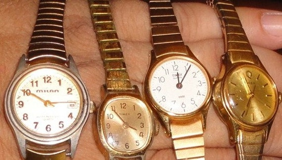 Lot of vintage timex, milan ladies watches*