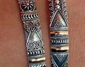 Silver and Bronze Bangles
