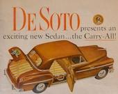 1949 De Soto Car Ad - Magazine Advertisement