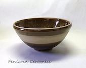 Chestnut Wood,  Stoneware Serving Bowl