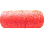 Coral - Macrame Cord - 16 yards - Waxed Polyester - Bracelet Thread