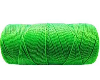 Waxed Cord, Macrame Bracelet Cord, 15 meters/16 yards Friendship Bracelet String, Summer Jewelry - Neon Green