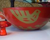 Danish Modern Enamelware Bowl