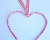 Wire heart covered in Liberty of London fabric