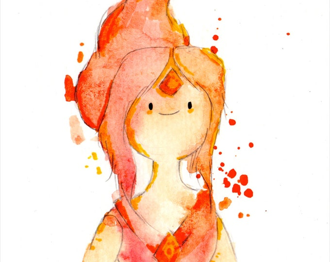 Flame Princess Mini Print 5x7 inch inch inkjet print / Adventure Time Fan Art