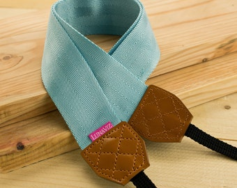 Camera Strap - Shocking Cyan for DSLR and Mirrorless