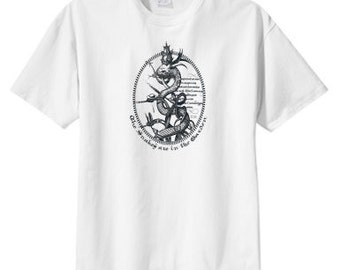 Gothic Snakes In The Garden T Shirt  S M L XL 2X 3X 4X 5X Cool Tattoo Art