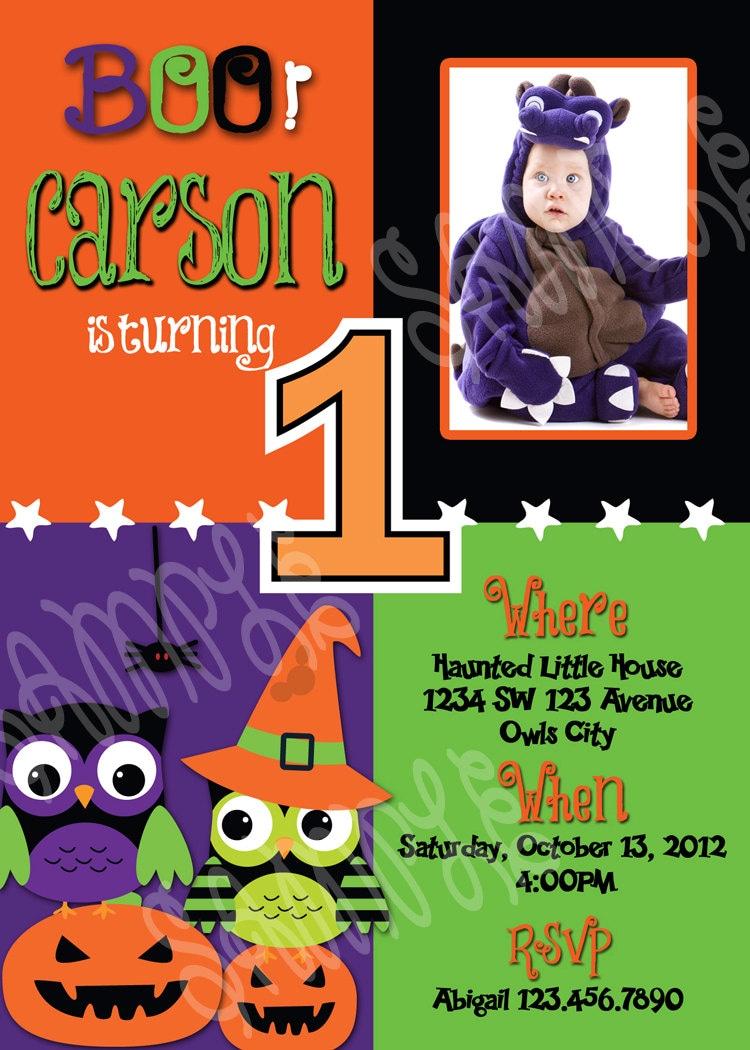 Halloween 1st Birthday Invitation 1st Halloween Birthday