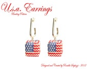 Bead Pattern Earrings U.S.A.- Pdf file Only for personal use