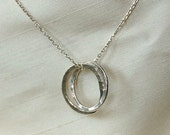 Circles intertwined on Sterling Silver Chain