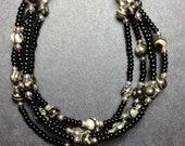 Multistrand Beaded Bracelet, Custom Sized to Order as Medical ID Replacement or Standard Bracelet