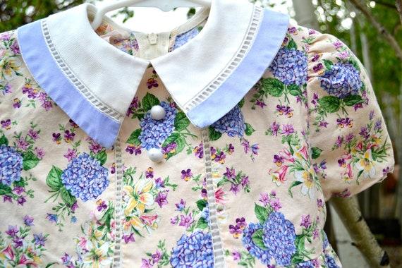 Vintage Girls Dress Floral Size 3T to 4T