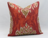 "Pillow Cover  Any Size  Marreskesh Ikat Indian Summer ..up to 20"" - MyPillowStudio"