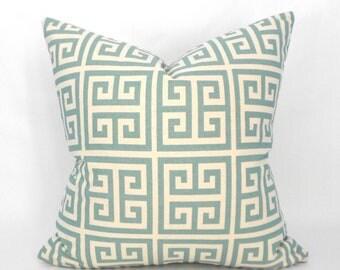 Pillow Cover ANY SIZE Decorative Pillow Blue Pillow Premier Prints Towers Village Blue/Natural