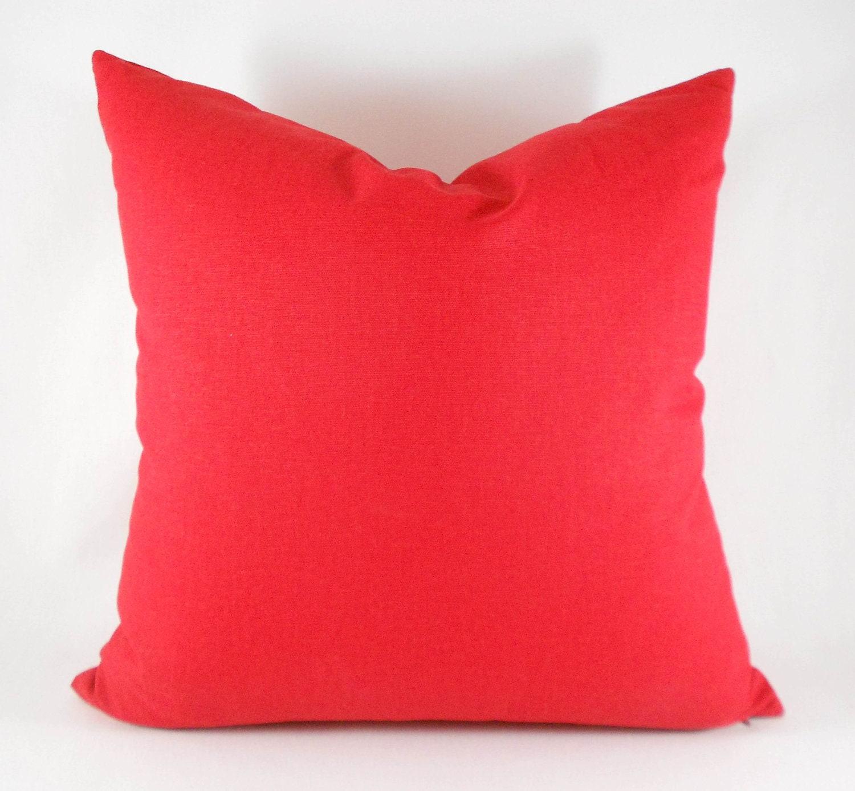 Decorative Pillow Measurements : Pillow Covers ANY SIZE Decorative Pillow Cover Solid Red