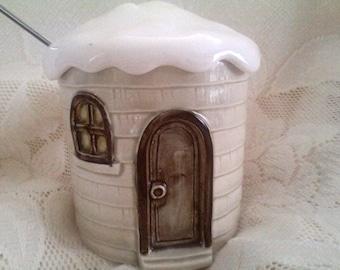 Otigiri Collectible- Sugar Bowl/Jam or Marmalade Pot/ Vintage/Treasury Item