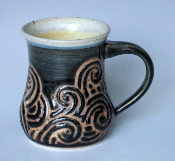 Handmade Ceramic Mug in Deep Sea Tempest