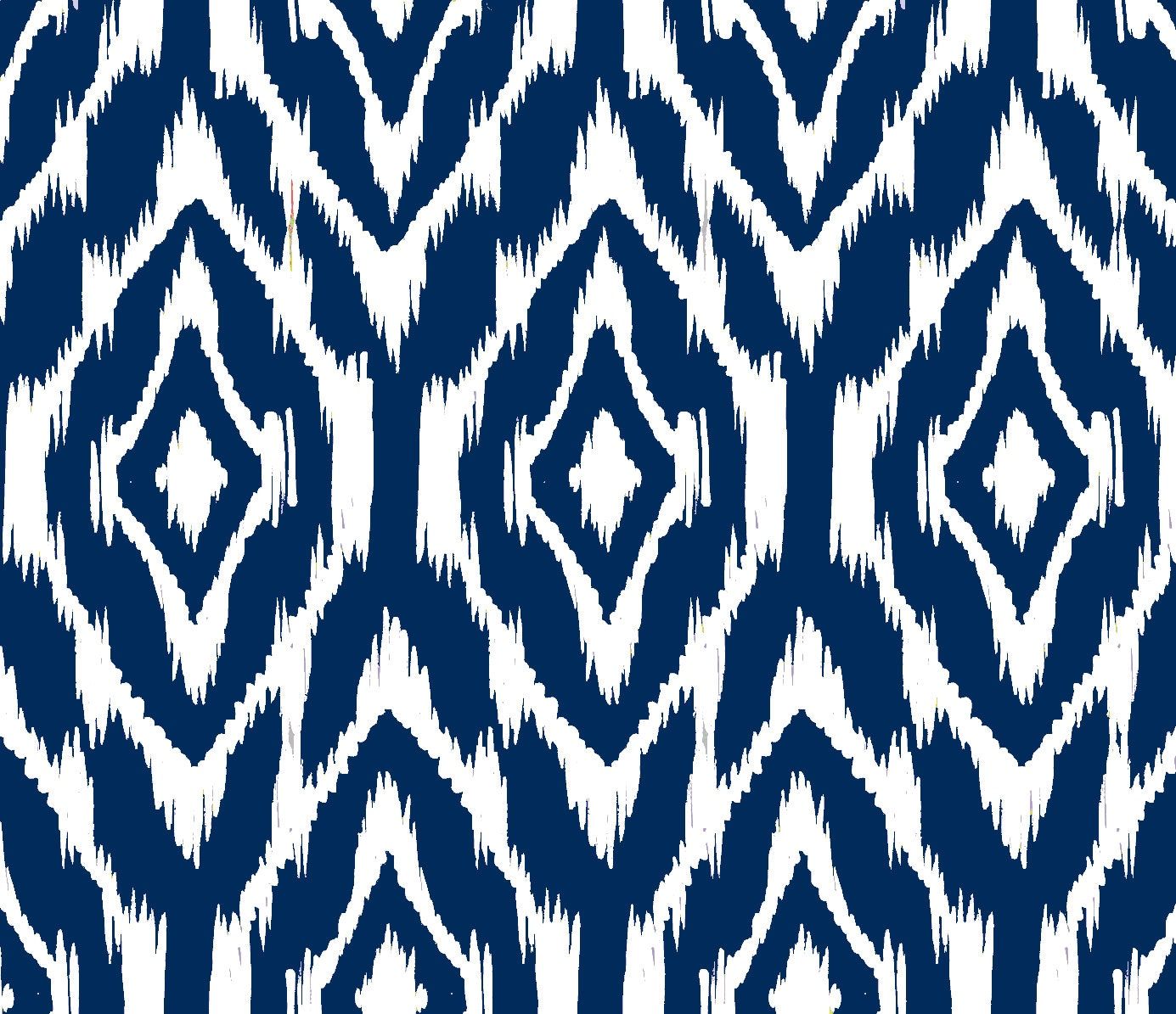 Ikat print fabric by the yard navy and white for Kids pattern fabric
