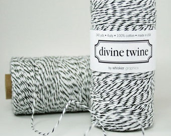 240 yards of Black Licorice Divine Twine
