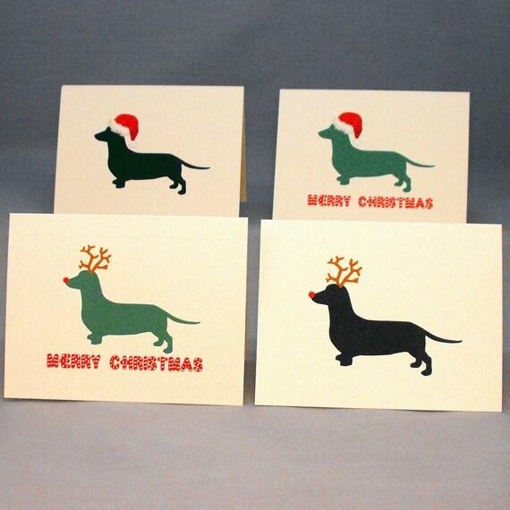 Dachshund dog christmas card set doxie holiday cards etsy image 0 m4hsunfo