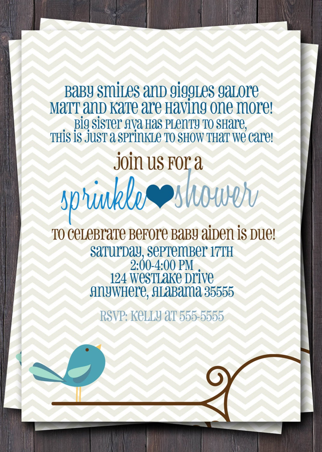 baby sprinkle baby shower or sip n see invitation baby